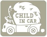 imoninn CHILD in car ステッカー 【マグネットタイプ】 No.37 ハリネズミさん (グレー色)