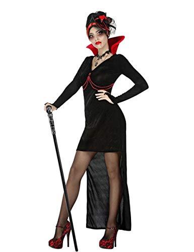 Atosa-54277 Atosa-54277-Disfraz Vampiresa para mujer adulto-talla XS-S negro, color (54277)