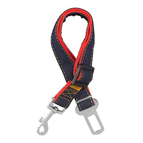 GOURIXIN Cinturón de Seguridad de Coche para Perros,Ajustable Cinturones de Seguridad Perros y Fuerte mosquetón, para Todas Las Razas Perros y Gatos,Rojo
