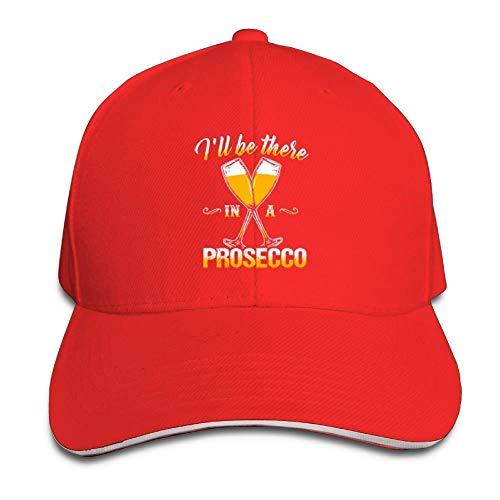Egoa pet Ik zal zijn in een Prosecco Baseball Caps verstelbare ruggordel platte hoed