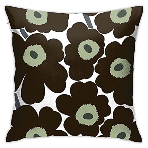 Xutazu Marimekko Unikko Pillowcase Double-Sided Printed Pillow Square Pillowcase with Hidden Zipper 18inch18inch