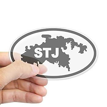 CafePress St John s STJ Map Oval Sticker Oval Bumper Sticker Euro Oval Car Decal