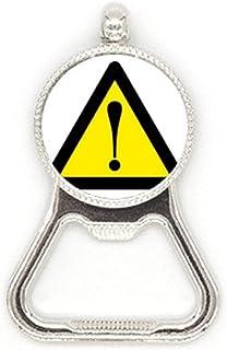 Waarschuwing Symbool Geel Zwart Veilig Driehoek Metalen Bier Fles Cap Opener Duty Roestvrij Staal