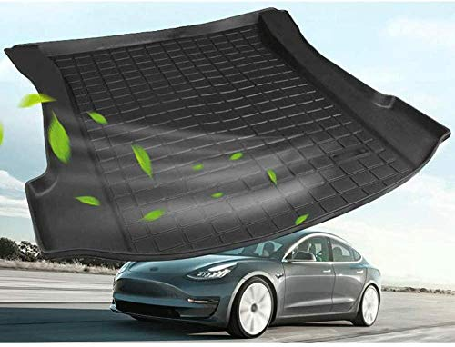 ZYLFP Boot Trunk Mats For Tesla Model 3, Rubber Non-Slip Dust-Proof Floor Mats Car Accessories
