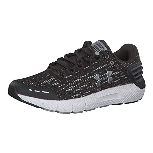 UNDER ARMOUR Men's Charged Rogue Running Shoe, Jet Gray (100)/White, 11