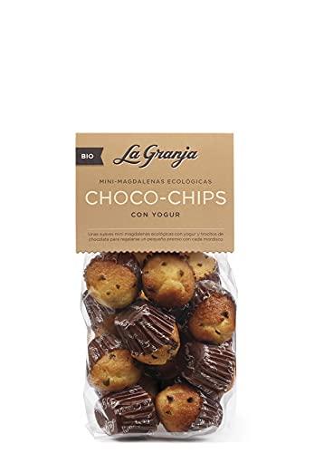 La Granja (Bio) Mini Magdalenas Ecológicas con Choco-Chips y Yogur, 200 g