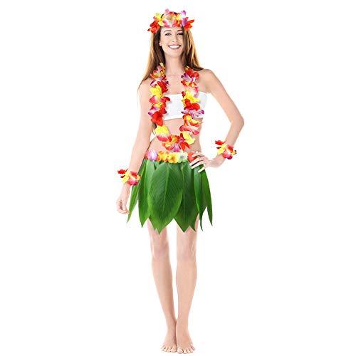 DomeStar Leaf Skirt, Hawaiian Leaf Skirt Green...