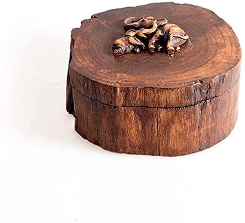 Urna de cremação de coluna de madeira pequena para comemorar cinzas de animais de estimação e pequena quantidade humana resta cinzas dois elefantes - pequeno fantástico