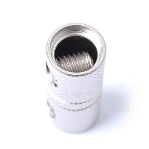 WINOMO 2Pcs 4 Gauge Wire Couplers Audio Car Brass Terminal Butt Connectors for Car