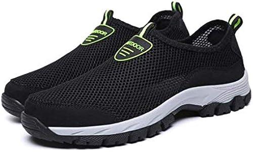 Sommer-Turnschuhe, Herren Net Schuhe, Herrenschuhe Breathable Mesh Sportschuhe, Herren Outdoor Wading Schuhe, Rutschfeste Größe Größe Travel Schuhe (Farbe   Grau, Größe   45)
