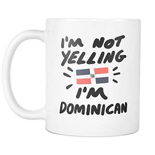 'M Not Gritando I' M Just Dominican Coffee Mug Regalo para Amigo Amante Esposo Esposa Padres Colega en Madre y Rsquo Padre y Rsquo Aniversario de Bodas San Valentín y Rsquo Cumpleaños Navidad