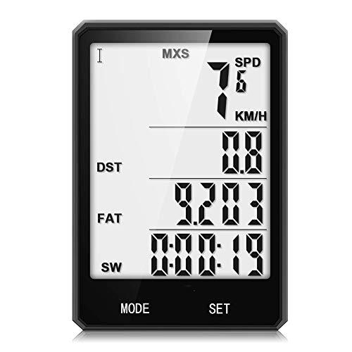 VOLORE Bicicleta Cuentakilómetros Impermeable LCD Pantalla de 2.8 Pulgadas Activación Automática Luz...
