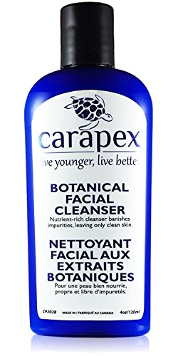 Carapex Botanical Facial Cleanser, Gentle Makeup Remover with Aloe & Japanese Green Tea for Sensitive, Dry, Oily, Combination, Aging or Acne Prone Skin - Fragrance Free, Paraben Free, 4 oz