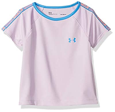 Under Armour Girls' Toddler Varsity Short Sleeve T-Shirt, Purple Ace-s19, 4T