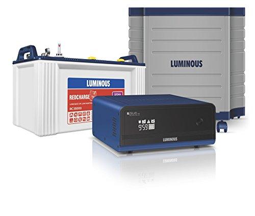 Luminous Zelio 1100 + Rc15000 120 Ah Tubular Battery+ Trolley