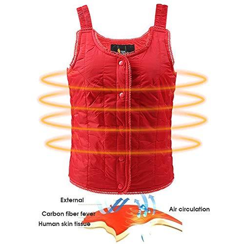 Q&M vest voor dames, verwarmend, warm, USB, winterjas, voor outdoor-activiteiten