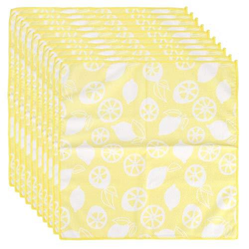 Jopwkuin Toalla de Microfibra, Toalla Absorbente 10PCS reactivo Impreso para Regalo de inauguración de la casa para baño
