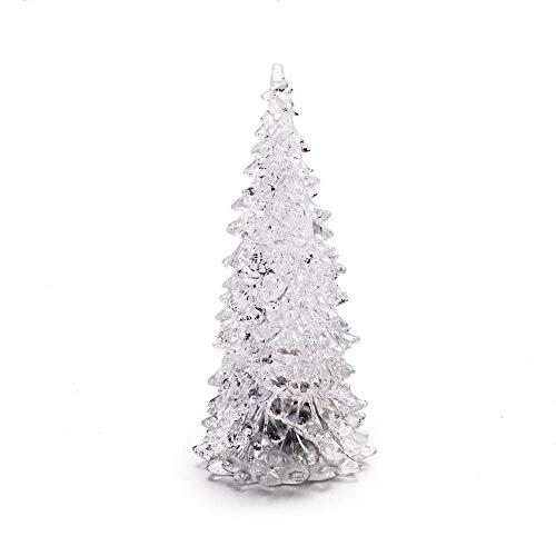 Mini Arvore De Natal Led Multicor Enfeite De Natal Acrilico