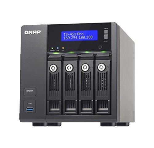 QNAP TS-453 Pro Desktop NAS-System 16TB (4-Bay, 4X 4TB WD Red, 2GB RAM)