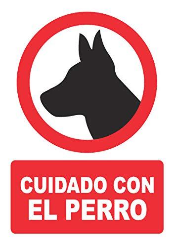 Señal cuidado con el perro – PVC 0,7mm – 21 x 30...