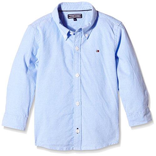T.H. Deutschland GmbH Tommy Hilfiger Jungen SOLID Oxford Shirt L/S. Hemd, Blau (Light Blue 050), 140 (Herstellergröße: 10)