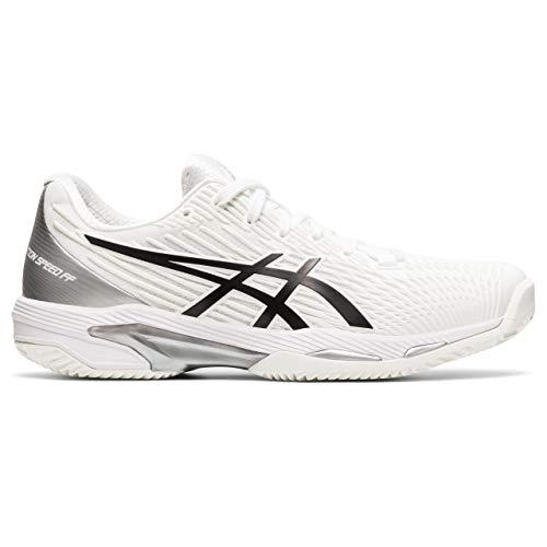 ASICS Solution Speed FF Clay, Zapatos de Tenis Mujer, Blanco Y Negro, 36 EU