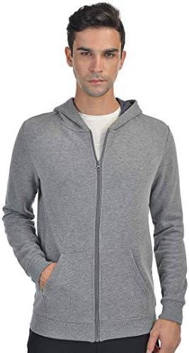 qualidyne Men s Full Zip Fleece Hoodies Midweight Workout Thermal Sweatshirt Long Sleeve Athletic product image