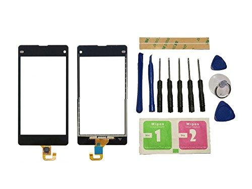 Flügel für Sony Xperia Z1 Compact Mini D5503 Touchscreen Display Digitizer Glas Schwarz Bildschirm Frontglas (Ohne LCD) Ersatzteile & Werkzeuge & Kleber
