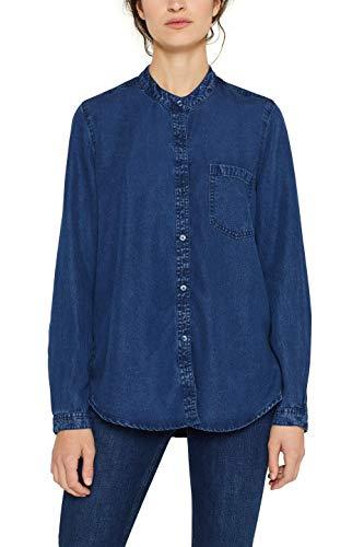 ESPRIT 089ee1f026 Camicia, Blu (Blue Medium Wash 902), Small Donna