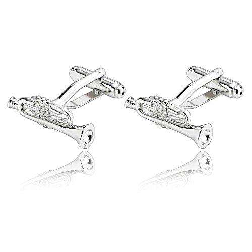 Aooaz–Gemelli da uomo set, 6stili gemelli in acciaio INOX,  pezzi camicia gemelli vestito abito Business, Acciaio inossidabile, colore: Style A (Silver), cod. Aooaz6X5KMNLQLXKG107