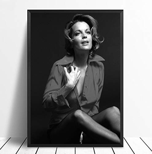 QINGRENJIE Wandkunst Bild Leinwanddruck Poster Romy Schneider Filmstar Kunst Poster Raum Wanddekoration 40X60Cm Kein Rahmen