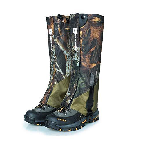 Huenco Outdoor Camouflage Snowproof wasserdichte Schneeschuhe Gamaschen Legging Gaiter Hohe Beinschutz für Wandern Wandern Klettern Jagd
