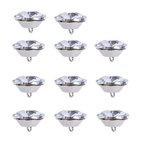 rosenice 20 Stücke 25mm Strass Kristall Diamant Knöpfe zum Nähen für Kleidung Sofa Polster Kopfteil Deko
