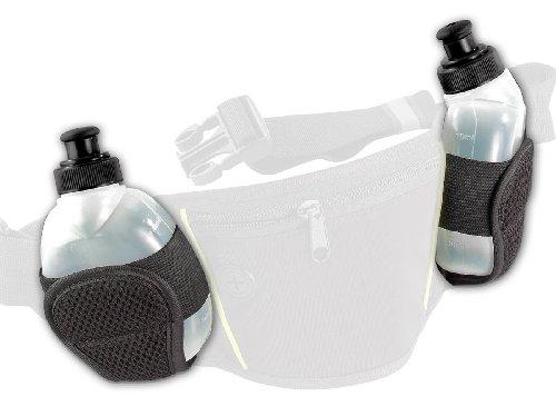 PEARL sports Zubehör zu Trinkgurt: Ersatztrinkflaschen für NC-2819, 2er Set (Bauchgurt mit Trinkflasche)