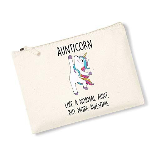 Aunticorn Sac de toilette avec licorne