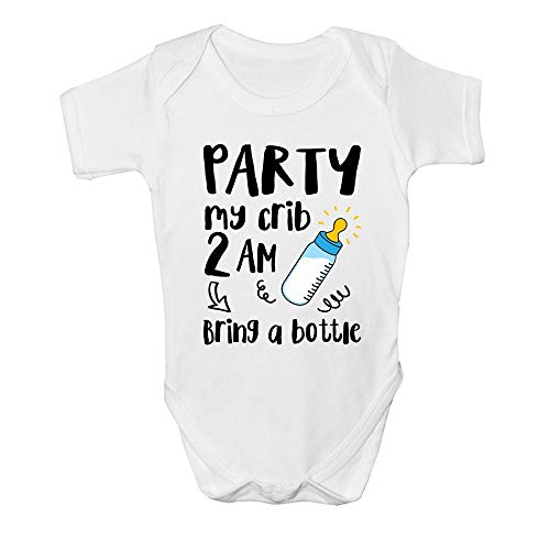 Promini Cute Party My Crib 2am Traer una botella de algodón bebé mono bebé de una pieza mono bebé bebé mameluco
