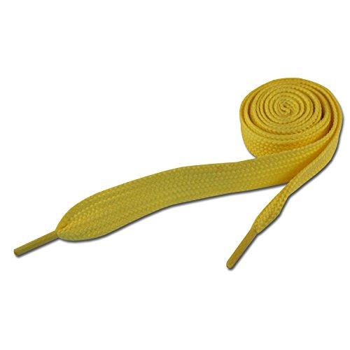 Lacets de Skate - Jaune 20mm x 120cm (Super Fat Neon Yellow Shoelaces)
