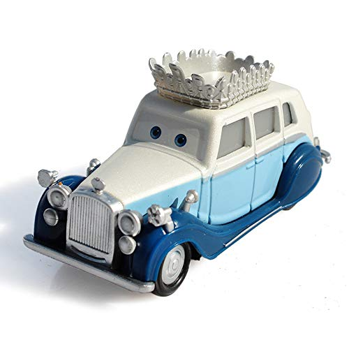 FEIYI Pixar Cars 2 The Queen Metal Diecast alloy classic Toy Car model for children gift 1:55 Brand toys (Color : Blue)