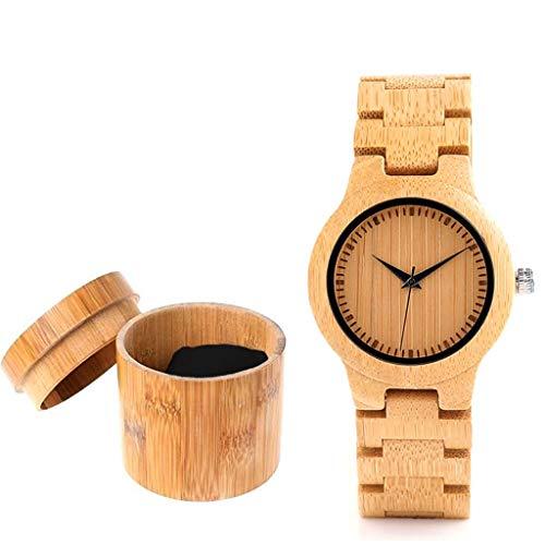 JSY Bamboo Watch Il ministro degli Esteri Giapponese Kono Taro ha raccomandato Lo Stesso Paragrafo Quartz Bamboo Table Uomini e Donne Coppia Regalo Bamboo Handmade Orologio da Polso (Color : Man)