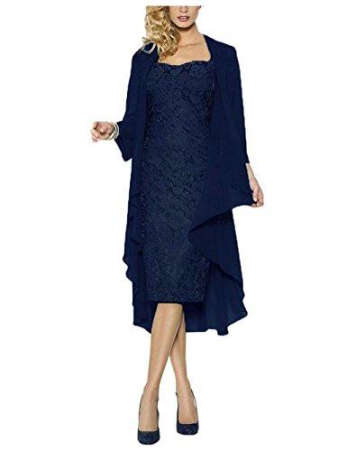 JAEDEN Abendkleider Kurz Ballkleider Spitze Damen Hochzeitskleider Mutter der Braut Kleid mit...