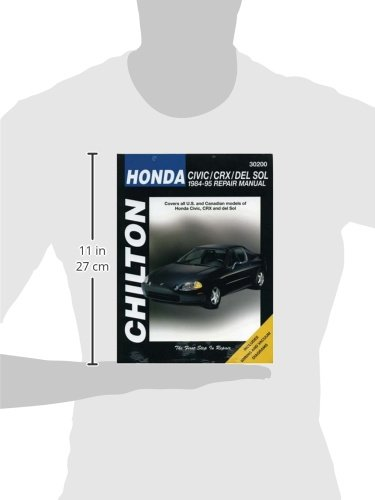 Honda Civic, CRX, and Del Sol, 1984-95 Repair Manual (Chilton Automotive Books)