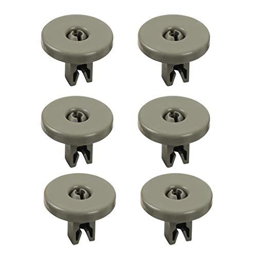 MERIGLARE 6X Favorit F/AEG Kits de Lavavajillas de Plástico con Rueda Inferior,