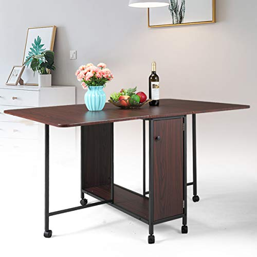 TITLE_JAXPETY Movable Folding Table