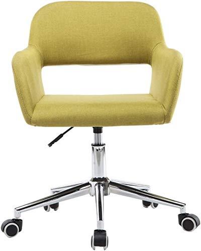 WJMLS Muebles Ergonómicos Mesa de Oficina en el hogar, Sofá de Lino Giratorio de la Parte Posterior de la Parte Posterior, 8 cm de Altura adyuatable Tarea pequeña, (Color : Green)