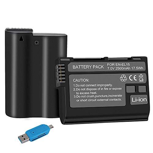 CITYORK EN-EL15a compatível com câmeras digitais Nikon 1 V1, D7500, D7100, D750, D7000, D7200, D810, D610, D800, D600, D500, D800E, D810A, D850