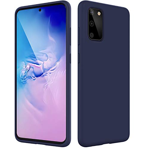 BEBEN Liquid Silicone Case Compatible with Samsung Galaxy S20 Case, Gel Rubber Full Body Protection Shockproof Cover Case Drop Protection Case for Samsung Galaxy S20 6.2' - Navy Blue