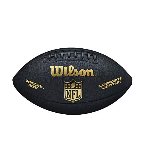 Wilson American Football NFL Limited, Mischleder, Offizielle Größe, Schwarz/Gold, WTF1709ID