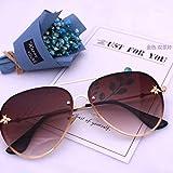 ERKEJI Gafas de Sol Mujer Película de Color para Mujer Gafas de Sol objetivas Gafas de Sol Planas Moda Sol viso