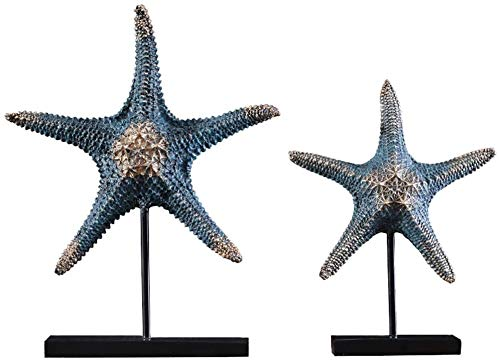 Statues Jane Ocean Star Model Ornaments Sculpture Living Room Bedroom Foyer Corridor Decoration (Color : Blue)
