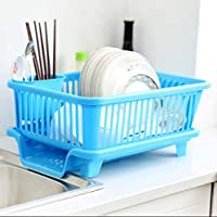 Package Included : 1 x Dish Rack With Tray & Spoon Fork Holder. Size :- (L) 44 cm , (W) 30.5 cm , (H) 14.8 cm Color : Multi ( Random color will be send ) The New Design, Human Diversion Bottom Tray, More Convenient And Clean ,Supporting Individual Ch...